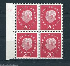 Bund 304 DZ 5 postfrisch VB Heuss III Viererblock Michel 63,00 €