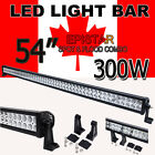 "52"" 300W Spot Flood Combo LED Work Light Lamp Bar Off Road JEEP 4WD SUV Car Boat"