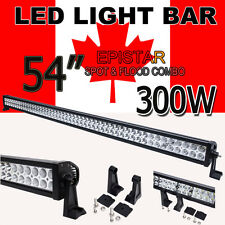 EPISTAR 300W Spot Flood Combo Beam LED Light Bar OffRoad JEEP Work Lamp 52inch