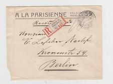 FINLAND / RUSSIA 1913 REGISTERED COVER, HELSINKI TO BERLIN, 10x2k RATED
