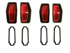 Tail light lens kit, 1970 Rallye 350, Set of 4 with gaskets.