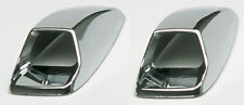 Sumex Chrome Silver ABS Plastic Car Bonnet Screen Washer Wash Vent Covers - Pair