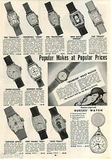 1942 ADVERT New Haven Character Watch Dick Tracy Orphan Annie Ingersoll Warrior
