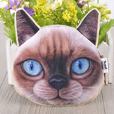 Women Girl Purse Case Card Coin Money 3D Cute Cat Eyes Zipper Wallets Gift bags