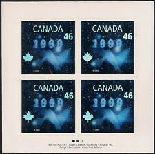 Canada Stamps -Full Pane of 4 -Millennium Issue ''Dove'' Hologram #1812 -MNH