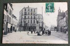 CPA. NOISY LE SEC. 93 - Place Jeanne d'Arc. Tailleur. Hôtel Restaurant.