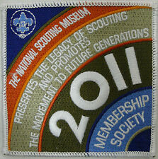 BSA BOY SCOUTS OF AMERICA NATIONAL SCOUTING MUSEUM MEMBERSHIP SOCIETY PATCH 2011