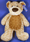 """Toys R Us 24"""" Large Plush Teddy Bear Stuffed Pillow Curly Brown Pillow Lovey"""