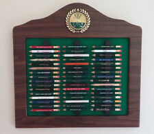 Golf Pencil Display, Golf Gift, Golf Pencil Holder, Pencil Rack - Walnut Finish