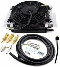 "External aluminum automatic transmission fluid oil cooler with 10"" Electric fan"