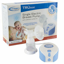 NEW TRUease Single Electric Breast Pump, Closed System, Electric or Battery, Kit
