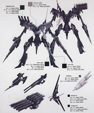 Kotobukiya Omer TYPE LAHIRE Stasis Armored Core ac 1/72 Model kit Toy game 4 v