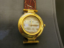 #234 ladys gold plate  MOP faced fendi watch