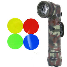 Army FLECKTARN Camo Right-Angle TL-122 TORCH WW2 Large Military LED Flashlight