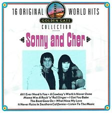 (CD) Sonny & Cher - 16 Original World Hits - Cowboys Work Is Never Done,u.a.