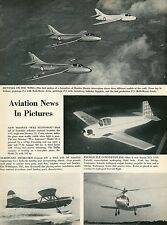 1953 Aviation Article News Hawker Hunter Mooney Wee Scotsman Convair OY Sncaso