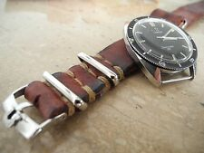 20mm Omega Speedmaster buckle on 1972er handcrafted VINTAGE nato Leather Strap