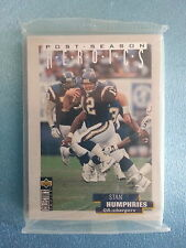 "UPPER DECK COLLECTORS CHOICE FOOTBALL     ""1996  POST SEASON  HEROICS""   SILVER"