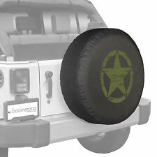 "35"" Oscar Mike Star - Spare Tire Cover - Jeep Wrangler Freedom Edition - Green"