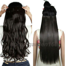 120-200G Natural Hair Piece Clip in Synthetic Hair Extensions real as human Z96