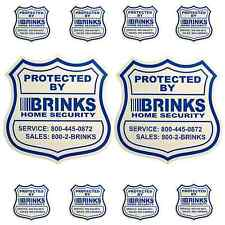 2 Home Security Yard Signs and 8 Security Sticker Decals BRINKS ADT
