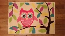 Owl Rug, pretty design, childs bedroom, playroom, girls A67 **FREE POSTAGE**