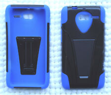 Motorola Droid RAZR M XT907 / RAZR i XT890 Phone Cover Case T-Stand BLUE/BLACK