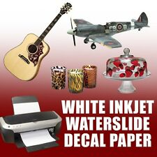 10 Decals ,Waterslide Decal Paper, Inkjet WHITE