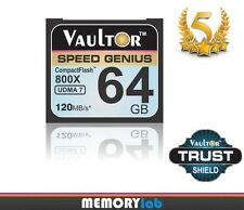 VAULTOR 64GB 800X PROFESSIONAL COMPACT FLASH CF MEMORY CARD FOR DIGITAL CAMERA