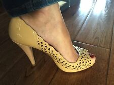 Dune tan open toes high heels size 5
