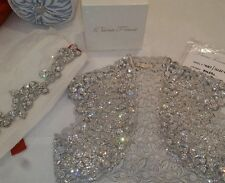 Pnina Tornai swarovski crystal bolero size 6 Kleinfeilds!! Sash Not Included!