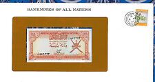 Banknotes of All Nations Oman 100 Baisa 1977  P13 UNC Prefix 1/23