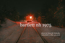 Maine Central RR Snowplow Extra   Bartlett NH  1975  color photo
