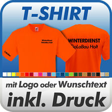 T-SHIRT, orange, Fruit of the Loom, inkl. Wunschtext / Logo / Druck / Werbedruck