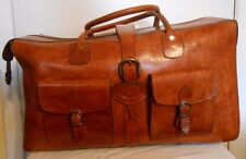 Floto Milano  ( F. M. & CO ) Leather Duffle Bag. Brown Made in  Italy