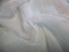 "100%COTTON 'SCRIM' NETTING~BRIGHT WHITE~18""x54""~DOLL FABRIC~SCARVES~LINING"