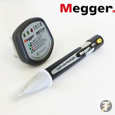 Megger MST210 Electrical Mains UK Socket Tester & VF1 AC Voltage Detector/Tester