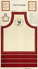 French Counrty Roosters  Apron Panel   Cotton Quilt Fabric BFab