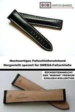Bob Marino handmade orologi Nastro compatibile con Omega-Faltschließe NERO 22/18 mm