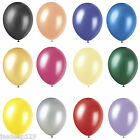 "Pearlised Balloons Helium Quality 12"" Birthday Wedding Christening Party Colours"