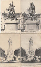 Lot 4 cartes postales ancienne DUNKERQUE statues