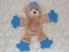 BRIGHT STARTS ROOKIE BASEBALL STUFFED PLUSH TEDDY BEAR RATTLE TEETHER TOY BABY