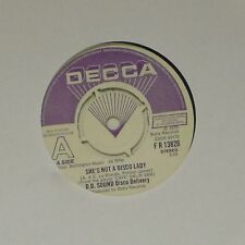 "D.D. SOUND DISCO DELIVERY 'SHE'S NOT A DISCO LADY' UK 7"" SINGLE DEMO COPY"