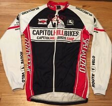 Men's GIORDANA Bikecycle Racing Cycling Full Zipper Jersey. Size S Made In Italy