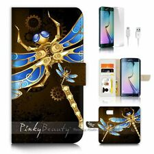 Samsung Galaxy ( S7 Edge ) Flip Wallet Case Cover P2494 Dragonfly