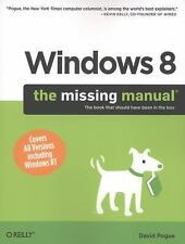 Windows 8: The Missing Manual Pogue, David Paperback