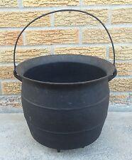 Cast Iron Cauldron Bean Pot Kettle Antique Primitive 4 Legged