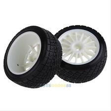 4PCS Tarmac Wheels White Tires for HPI Racing WR8 Rally Off Road Buggy 1:10