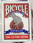Republican Red 2008 Election Deck Bicycle Playing Cards Poker Size USPCC Limited