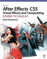 After Effects w/ DVD Adobe CS5 Visual Effects & Compositing Studio Tech... NEW